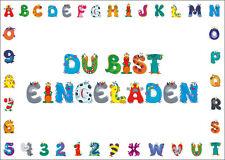 6 lustige Monster-Einladungskarten zum Kindergeburtstag oder Einschulung