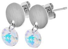 Mode-Ohrschmuck im Ohrstecker-Stil aus Edelstahl mit Kristall für Damen