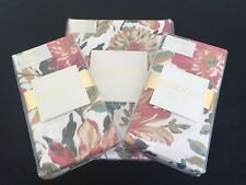 """ENVOGUE 9pc TABLECLOTH 60"""" x 102"""" & 8 DINNER NAPKINS Cotton TEAL GREEN GOLD NWT"""
