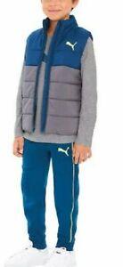 PUMA Big Boys' 3-Pcs Vest, Tee Shirt and Jogger Pants