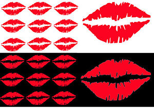 KISS LIPS LIPSTICK A5 BADGES hen party iron on t-shirt transfers