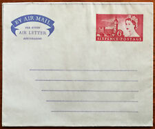 By Air Mail, Air Letter, Sixpence Postage Envelope