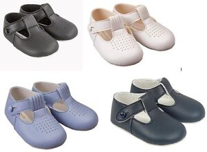 Baypods Baby Shoes Baby Boy Christening Baptism Pram Soft Sole Shoes Made in UK