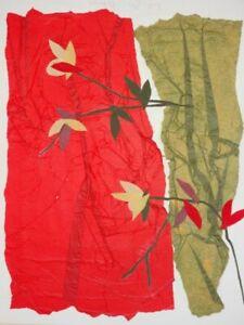 Blütenzweige - Lina Rau - signierte Papier-Collage - 1989