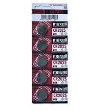 Maxell CR2025 Lithium Cell Button Battery (5 Pieces)