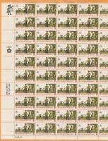 Scott #1479 Drummer & Soldier postage Stamp Sheet of 50-8 cent Stamps 1973