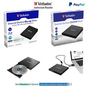 Verbatim External Mobile CD DVD BluRay M Disk Writer PC Mac