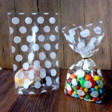 Transparent Cookies Bags Cellophane Bag Dots Print Christmas Party Favors 50pcs
