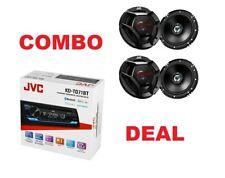 JVC KD-TD71BT Car AUDIO CD Bluetooth Stereo Receiver W/4 Speakers CSDR261 2 PAIR