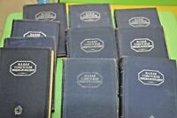 1930 lot of 10 books of the USSR small Soviet encyclopedia in good condition .