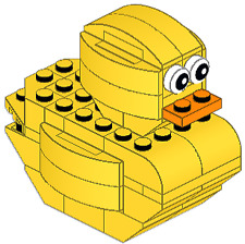 Rubber Ducky Duck Yellow Custom Lego INSTRUCTIONS ONLY