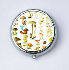 Mushrooms Pill Case pillbox pill holder botanical fungi