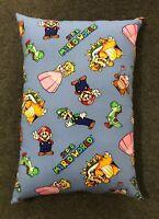 "Beautiful Handmade Super Mario Brothers Accent - Throw Pillow  13"" x 10"""