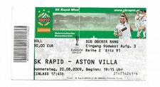 Ticket 2009/10 UEFA Europa League - SK RAPID WIEN v. ASTON VILLA