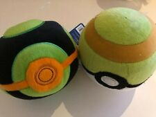 """Pokemon Poke Ball 5"""" Soft Plush Toy Official Tomy New With Tags x 2 Bundle"""