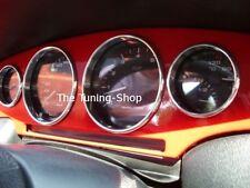 Pour Fiat Coupe 16V 20V Turbo Chrome Anneaux Aluminium Cerclages De Compteur