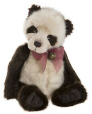 Dennis by Charlie Bears - plush collectable jointed panda teddy bear - Cb181838