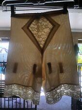 Vintage Penny's Adonna Beige Nylon Shapewear Girdle Garters Medium Lingerie
