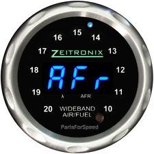 Zeitronix Zt-3 Wideband O2 Sensor System AFR & ZR-1 Silver Gauge Blue LED
