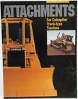 1990 Caterpillar Attachments for Track-Type Tractors Sales Brochure