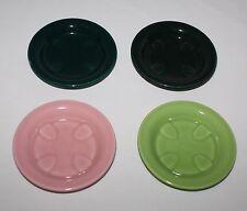 4 Coasters Casual California Vernon Kilns Metlox Vernonware USA Green Dawn Pink