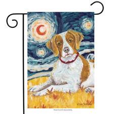 """Van Growl Brittany Garden Flag Animals Toland Decorative Pet 12.5"""" x 18"""""""