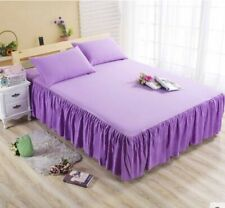 Purple Queen Ruffle Bedding Bed Spreads Cover Sheet Valance Bed Skirt 1.8X2M #