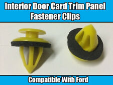 10x FORD KA FOCUS FIESTA GALAXY INTERIOR DOOR TRIM PANEL CARD CLIPS FASTENER