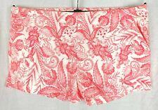 ZARA BASIC Womens Pink Mix Floral Hot Pants Shorts LARGE