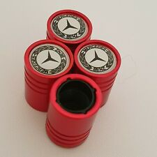 MERCEDES BENZ DUST VALVE CAPS al Cars 13 colours NON STICK RED SLK AMG A C CLASS