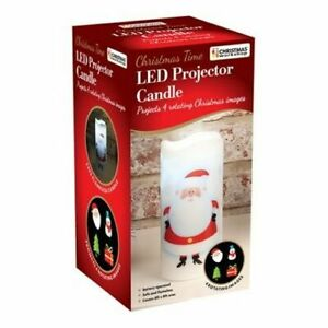 Santa LED Projector Candle Christmas Lights (Battery Operated)