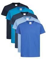 Kids Childrens Plain NAVY ROYAL LIGHT OCEAN DARK MIDNIGHT BLUE T-Shirt Tee Shirt