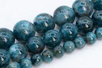 12MM Dark Blue Green Apatite Beads Madagascar AA Genuine Natural Gemstone Full Strand Round Beads 15 BULK LOT 1,3,5,10,50 106839-090
