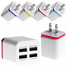 Universal Travel 1/2 / 4 Ports AC USB Home Wall Charger for iPhone Samsung HTC