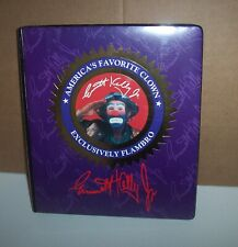 Exclusively Flambro Emmett Kelly Jr America's Favorite Clown 3 Ring Notebook