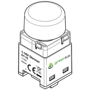 D1-10V Dimmer Switch - Greenlux - 10-100% Dimming Range - Operating Temp 0-50 C