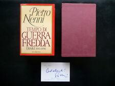 Pietro Nenni Tempo di Guerra Fredda Diari 1943 1956 SugarCo 1981 Nani Tedeschi