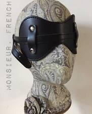 Black Leather Blindfold Fetish Dominatrix Play 50 Fifty Shades Bondage