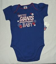 NEW Baby Girl New York Giants One Piece 0 thru 12 Month NFL Football Blue Sweet