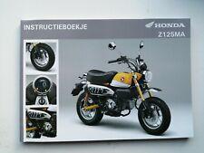 Honda Z125MA Monkey Instructieboekje 2018 Dutch Version