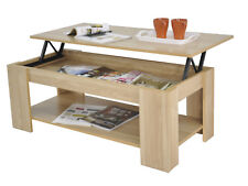 Kimberly Lift up Top Coffee Table With Storage & Shelf - Choice of Colour Oak