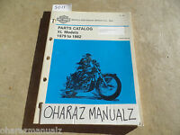 1979 1980 1981 1982 Harley-Davidson XL Parts Catalog Manual
