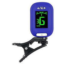 Kala Klipz KKBL Clip On Guitar Bass Violin Ukulele Chromatic Tuner BLUE