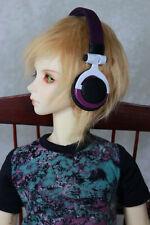 White Gold 1//3 BJD 8-9 inch headphone Model & SD Dollmore Art Headphone