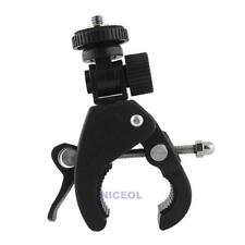 Bicycle Handlebar Mount 1/4 Screw Clamp Bracket Tripod for GoPro Camera DV DSLR