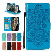 For LG Stylo4 Stylo5 V40 Pattern Strap Leather Wallet Magnetic Stand Case Cover