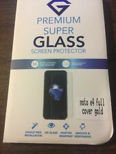 LOT OF 12 For Motorola Moto E4 Premium Tempered glass FULL SCREEN protector.