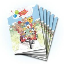 Suzy's Zoo Happy Birthday Greeting Card 6-pack 10291