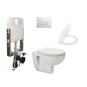 Komplett Set Hänge Wand WC Spülrandlos Toilette SoftClose Spülkasten NEU OVP