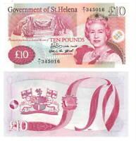St. HELENA 10 POUNDS (2004) P-12a Queen Elizabeth II P/1 UNC Prefix CV = $90 US